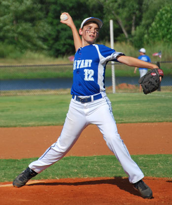 Logan Grant started on the mound for Bryant on Tuesday.