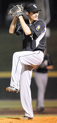 Harrison Dale picked up the win with three scoreless innings of relief. (Photo by Kevin Nagle)