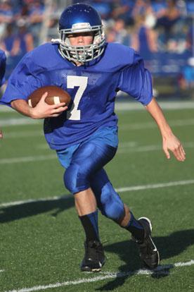 Bryant Blue running back Dalen McDonald (Photo by Rick Nation)