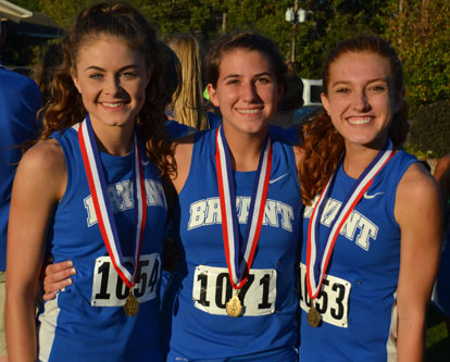 All-conference performers, from left, Talyn Billins, Hannah Shelby and Caitlyn Bell