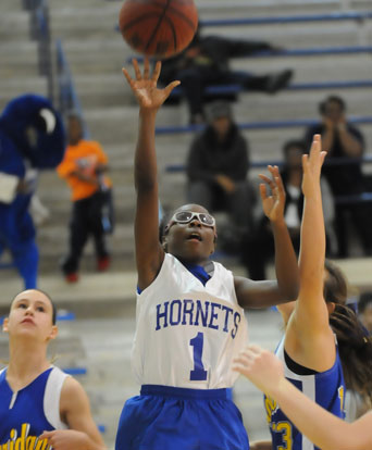 Tierra Trotter led Bryant White with 7 points in Tuesday's game. (Photo by Kevin Nagle)