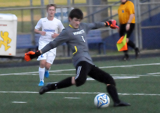 Bryant keeper Hayden Ray (Photo by Kevin Nagle)