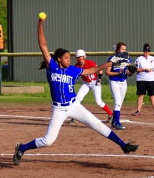 Raven Loveless delivers a pitch. (Photo courtesy of Jon Staton)