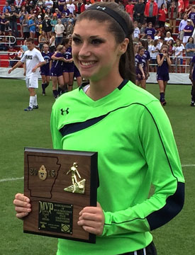 Maddie Hawkins was named the Most Valuable Player of the 2015 Class 7A State Tournament.