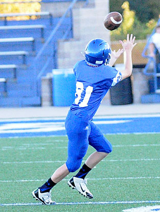 William Boyd tracks a pass during Tuesday's game. (Photo by Kevin Nagle)