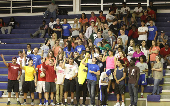A big group of students cheered on the Lady Hornets Tuesday night. (Photo by Rick Nation)