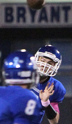 Quarterback Gunnar Burks was 11 of 15 for 106 yards and a touchdown passing on Friday night. (Photo by Rick Nation)