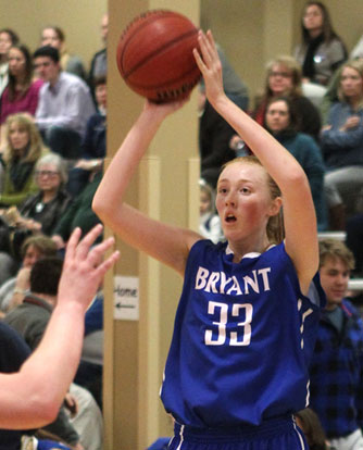 Rachael Miller hit a 3-pointer and finished with 8 points in Tuesday's win. (Photo by Rick Nation)