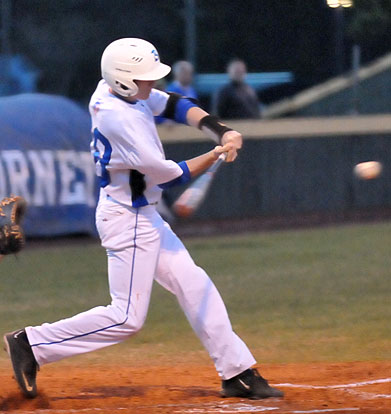 Seth Tucker had an RBI double in a three-run sixth. (Photo by Kevin Nagle)