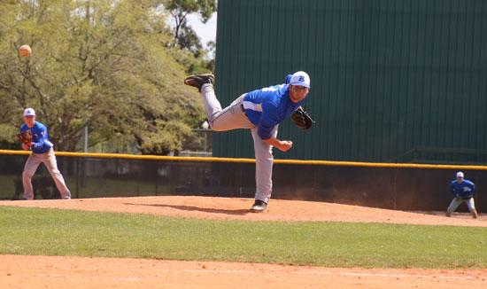Zach Jackson delivers a pitch.