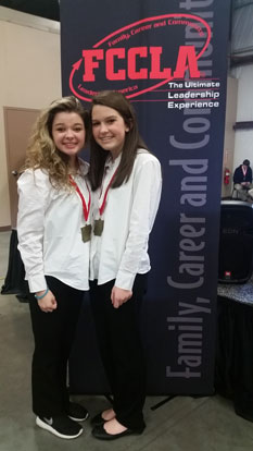 Caraline Moore and Ashlynn Drost earned a trip to to Nationals