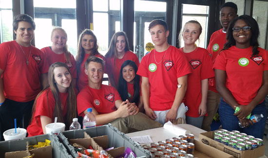 Those who participated in the FCCLA fall blood drive included, back from left, Alex Thompson, Tori Goy, Destinee Perry, Bethany Hutchison, Kaleb Kling, Koti Chism,James Johnson, Taylor Hill; front from left, Kendal Rogers, Sam Martin, Noemy Sotelo.