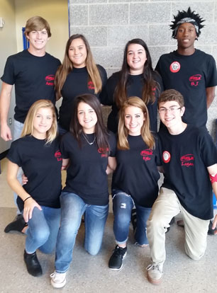 Brynt High School FCCLA officers, top from left, Aaron Orender, Miranda Mayfield, Haley Killgore, B.J. Zinamon. Bottom- Lauren Fuller, Anna Owens, Kylie Collins, Logan Corn.