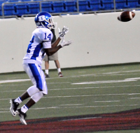 Brandon Murray had four receptions Thursday night. (Photo by Kevin Nagle)