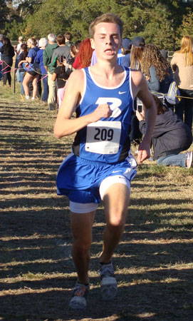 John Carder placed sixth overall to earn All-State honors. (Photo courtesy of Cynthia Austin)