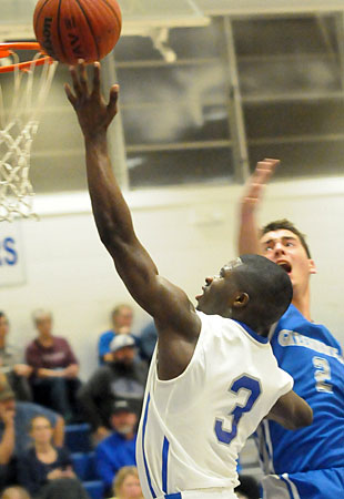 Calvin Allen goes up for 2 of 19 points. (Photo by Kevin Nagle)